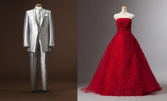 クロム赤ドレス